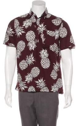 Valentino Pineapple Print Shirt