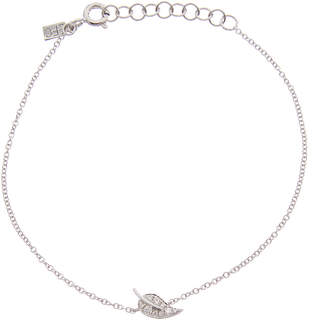 Ef Collection 14K Diamond Leaf Bracelet