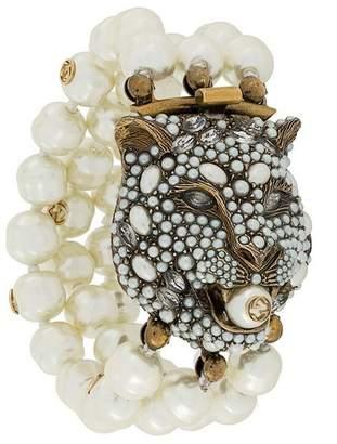 Gucci feline head bracelet