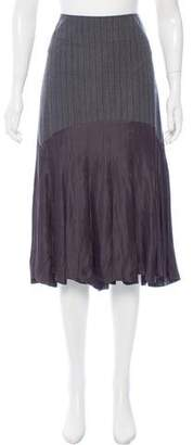 Issey Miyake Wool Knee-Length Skirt