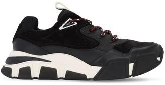 Salvatore Ferragamo Leather & Mesh Sneakers