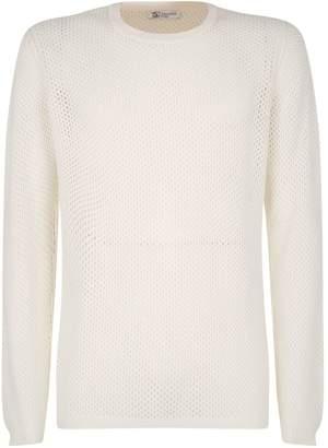 Johnstons of Elgin Cashmere Mesh Sweater