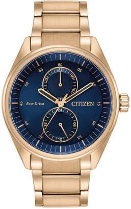 Citizen Men's Solar Paradx Rose Gold-Tone Stainless Steel Bracelet Watch 42mm BU3013-53L