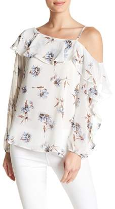 Very J Long Sleeve Floral Print Blouse