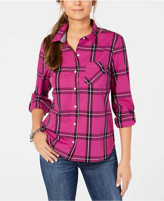 Tommy Hilfiger Plaid Button-Front Shirt