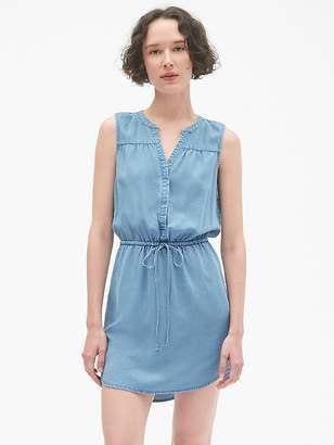Gap Sleeveless Tie-Waist Shirtdress in TENCEL