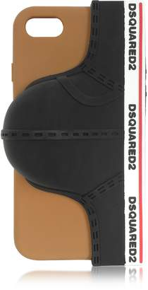 DSQUARED2 Black Silicone Signature iPhone 7 Cover w/Briefs
