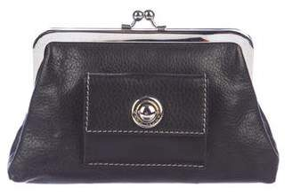 Marc Jacobs Leather Kiss-Lock Wallet