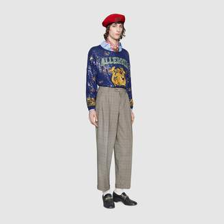 Gucci Sequin embroidered wool jumper