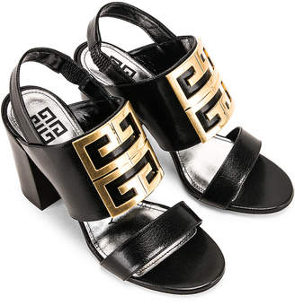 Givenchy Slingback Logo Sandal in Black | FWRD