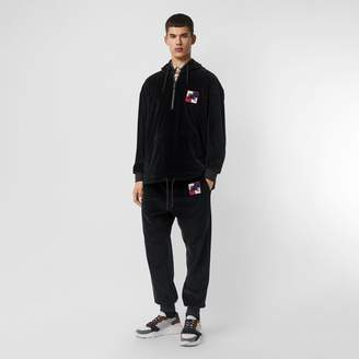 Burberry Embroidered Chequer EKD Velour Hoodie