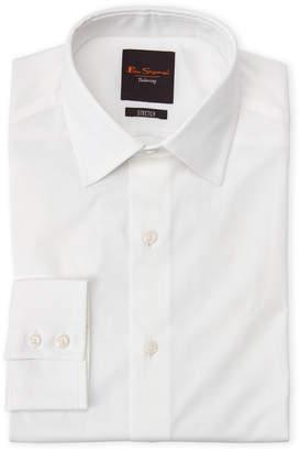Ben Sherman White Stretch Slim Fit Dress Shirt