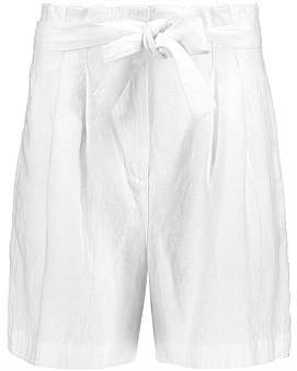 Studio.W Belted Pleated Linen Shorts