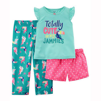 Carter's 3-pc. Pajama Set - Toddler Girls 2T-5T