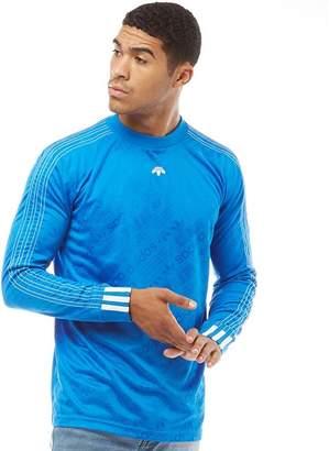 bfd1c3c7 adidas x Alexander Wang Mens Long Sleeve Soccer Jersey Bluebird
