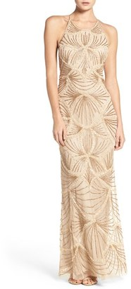 Women's Adrianna Papell Embellished Mesh Gown $349 thestylecure.com
