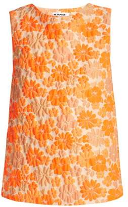 Jil Sander Fauno Floral Jacquard Top - Womens - Orange Print