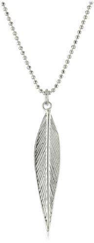 Sheila Fajl Silver-Plated Leaf Necklace