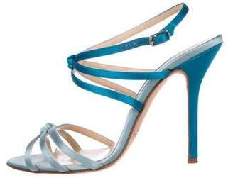 Oscar de la Renta Satin Multistrap Sandals