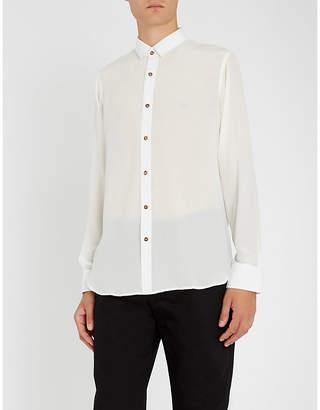 MAXIMILIAN ROBINSON The White slim-fit silk-crepe shirt