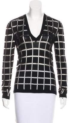 Ungaro Open-Knit Wool Sweater