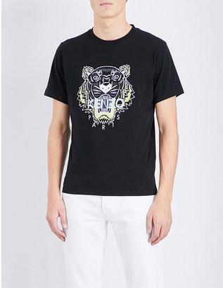 KENZO Tiger-motif cotton-jersey t-shirt $84 thestylecure.com