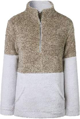 Goodnight Macaroon 'Aspen' Two-Tone Half-Zip Fleece Pullover (3 Colors)