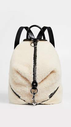 Rebecca Minkoff Shearling Julian Side Zip Backpack