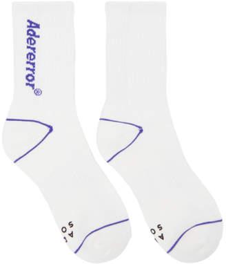 Ader Error ADER error White Diagonal Socks