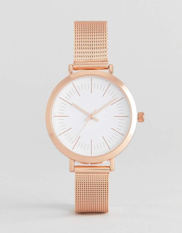 – Elegante Uhr mit Netzarmband, in Rosgold