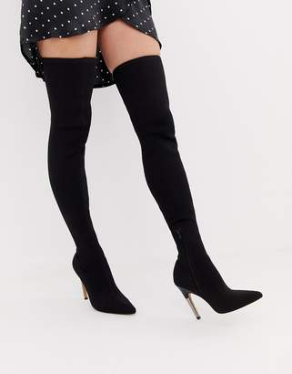 Asos DESIGN Kally knitted thigh high boots