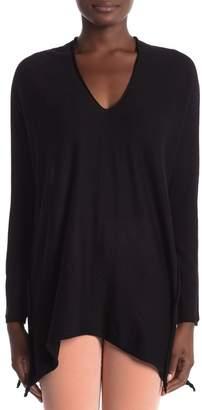 Modern Designer Oversized V-Neck Knot Sweater