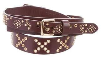 Rebecca Minkoff Grommet Leather Belt w/ Tags