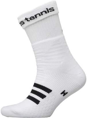 adidas Tennis ID Crew Socks One Pair White/Black/Black