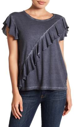 Susina Draped Ruffle Panel Tee (Regular & Petite)