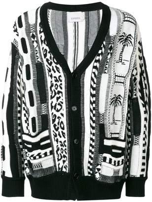 Laneus abstract print cardigan
