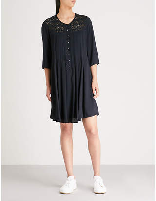 Claudie Pierlot Rosie pleated woven dress