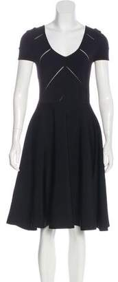 Zac Posen Short Sleeve Knee-Length Dress