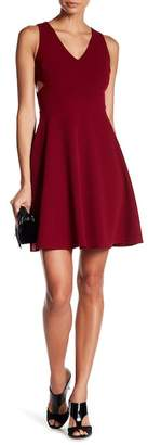 Soprano Sleeveless V-Neck Side Cutout Skater Dress