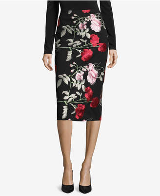 ECI Embroidered Pencil Skirt