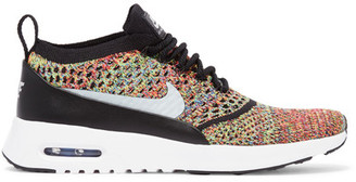 Nike - Air Max Thea Flyknit Sneakers - Green $150 thestylecure.com