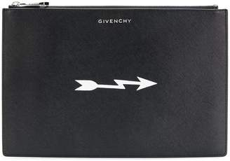 Givenchy arrow print saffiano pouch