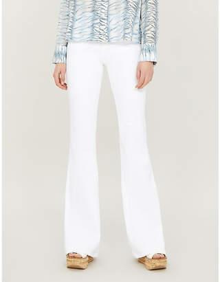 J Brand Valentina high-rise flared skinny jeans