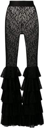 Faith Connexion frilled lace trousers