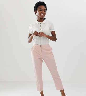 Asos DESIGN Petite Linen Clean Cigarette Pants
