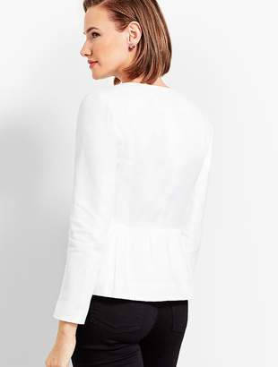 Talbots Linen Peplum Double-Weave Jacket