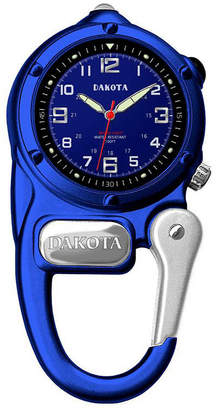 Dakota Mini-Clip Microlight Carabiner Pocket Watch, Blue