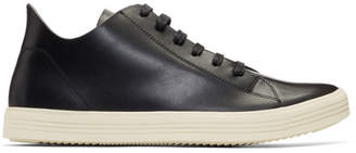 Rick Owens Black and Off-White Mastodon Low Sneakers