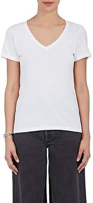 Barneys New York Women's Pima Cotton V-Neck T-Shirt - White