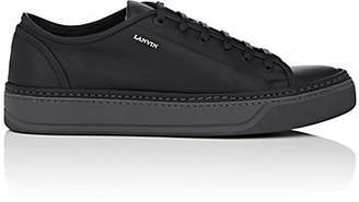 Lanvin Men's Contrast-Sole Leather Sneakers - Black